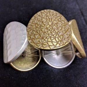 Premier Designs 2- tone stretch bracelet silver